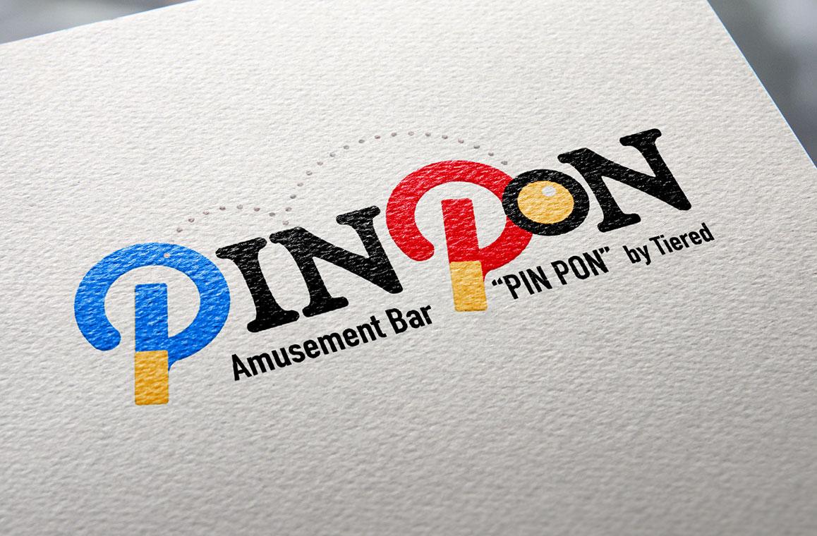 PINPONのロゴデザイン