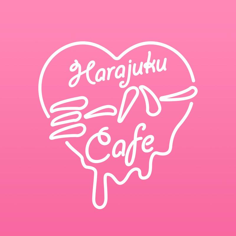 かわいいカフェのロゴデザイン