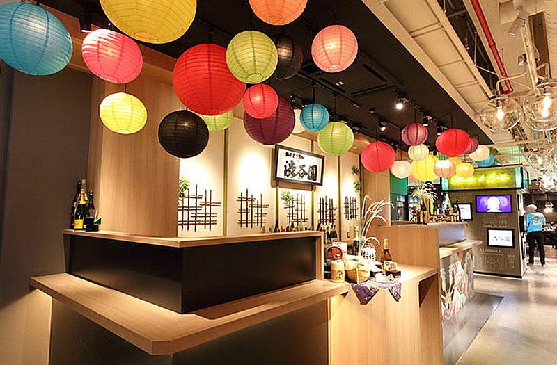 渋谷園の内装デザイン